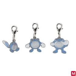 Metal keychain Poliwag Poliwhirl Poliwrath 060・061・062 japan plush
