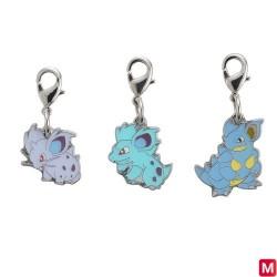 Metal keychain Nidoran female Nidorina Nidoqueen 029・030・031 japan plush