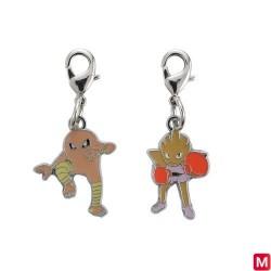 Metal keychain Hitmonlee Hitmonchan 106・107 japan plush