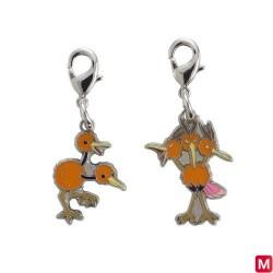 Metal keychain Doduo Dodrio 084・085 japan plush