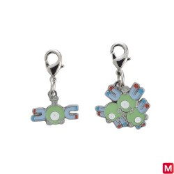 Metal keychain Magnemite Magneton 081・082 japan plush