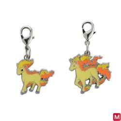 Metal keychain Ponyta Rapidash 077・078 japan plush