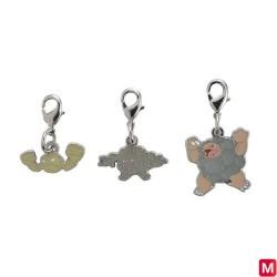Metal keychain Geodude Graveler Golem 074・075・076 japan plush