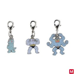 Metal keychain Machop Machoke Machamp 066・067・068 japan plush