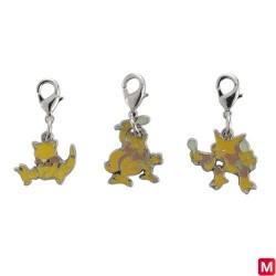 Metal keychain Abra Kadabra Alakazam 063・064・065 japan plush