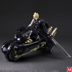 Play Arts Kai Final Fantasy VII Advent Children Cloud Strife and Fenrir Figurine japan plush