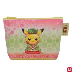 Pouch Sakura and Tea Ceremony japan plush