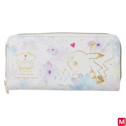Long wallet Pikachu flowers japan plush