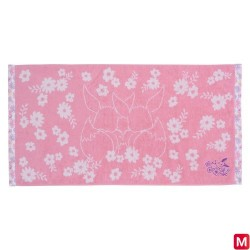 Mini bath towel Évoli flowers japan plush