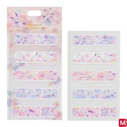 Adhesive bandage set flowers japan plush
