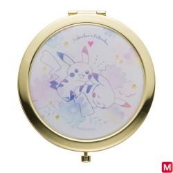 Compact mirror Pikachu flowers japan plush