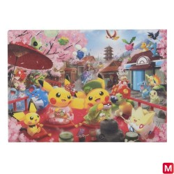 A4 Clear file Sakura and Tea Ceremony japan plush