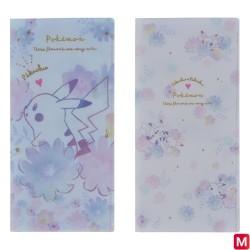 Ticket holder Set x2 Pikachu flowers japan plush