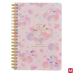 Cahier B6 Évoli flowers japan plush