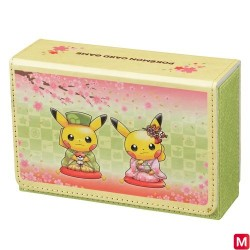 Pokemon Card Double Deck Case Sakura Tea Ceremony japan plush