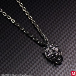 FINAL FANTASY VII ADVENT CHILDREN SILVER PENDANT CLOUDY WOLF
