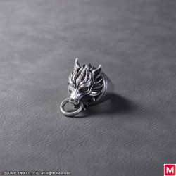 FINAL FANTASY VII ADVENT CHILDREN Silver Ring CLOUDY WOLF japan plush