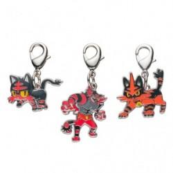 Metal keychain Litten Torracat Incineroar 725・726・72 japan plush