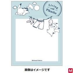 Square Stick Blue Living with Pikachu japan plush