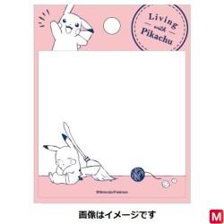 Square Stick Pink Living with Pikachu  japan plush