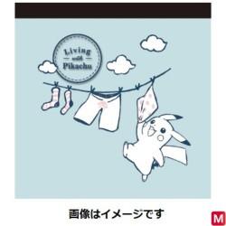 Memo Living with Pikachu Bleu japan plush