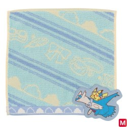 Hand towel Pikachu on Latios japan plush