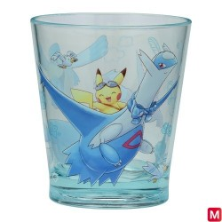 Glass Pikachu on Latios japan plush
