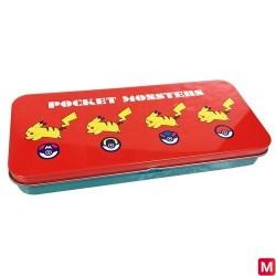 Pencase box Pikachu and Poké ball japan plush