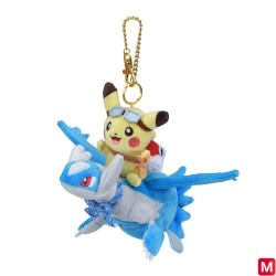 Keychain Plush Pikachu on Latios japan plush