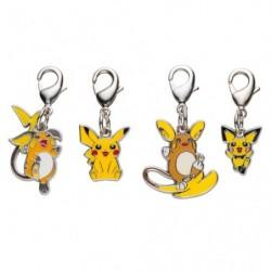 Porte-clé métal Pikachu Raichu Alola Pichu 172・025・026・A026 japan plush