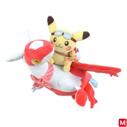 Peluche Pikachu sur Latias japan plush