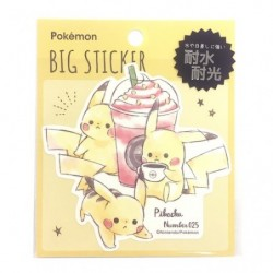 Grand Sticker Pikachu number 025 japan plush
