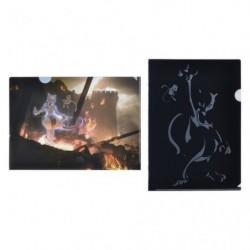 A4 Pochette transparente Mewtwo Mew Set x2 japan plush