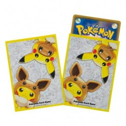 Pokemon Card Sleeves Pikachu Eevee Poncho japan plush