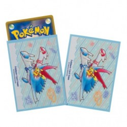 Pokemon Card Sleeves Pikachu on Latias Latios japan plush