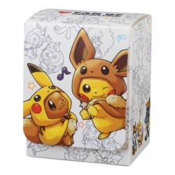 Pokemon Deck Case Pikachu Eevee Poncho japan plush