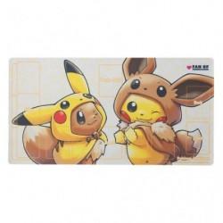 Pokemon Card Game Playmat Eevee Pikachu Poncho japan plush