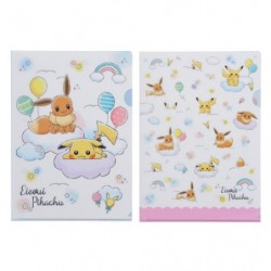 Clear File Pikachu and Eevee RB japan plush
