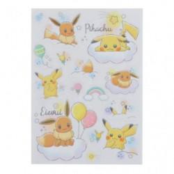 Decoration Sticker Pikachu et Evoli RB japan plush