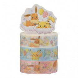 Masking Tape Pikachu and Eevee RB japan plush