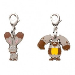 Metal keychain Bunnelby Diggersby 659・660 japan plush