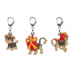 Metal keychain Litleo Pyroar 667・668 japan plush