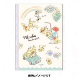 B5 Note Book Pikachu number025 Rainbow japan plush