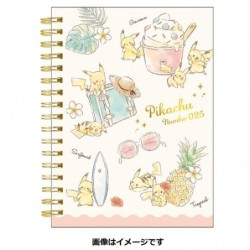A6 Note Book Pikachu number025 Resort japan plush