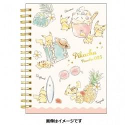A6 Note Cahier Pikachu number025 Resort japan plush
