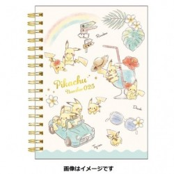 A6 Note Book Pikachu number025 Rainbow japan plush