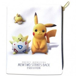 Flat Pocket Mewtwo Evolution Movie Pikachu Mew japan plush