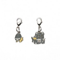 Metal keychain  Shieldon Bastiodon 410・411 japan plush