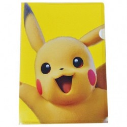 A4 Clear File Pikachu Movie A japan plush