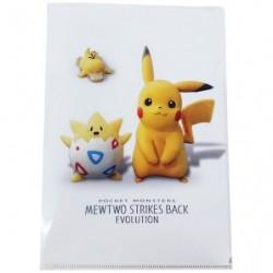 A4 Clear File Pikachu Movie japan plush